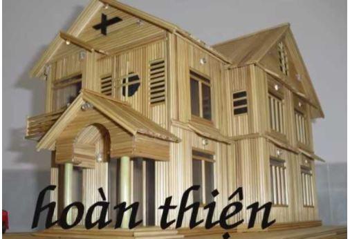 Hướng dẫn làm nhà bằng tăm tre 7