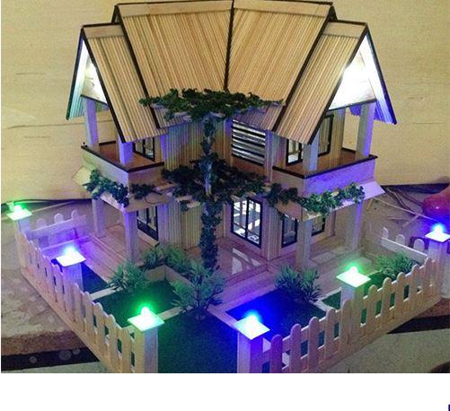 Hướng dẫn làm nhà bằng tăm tre 11