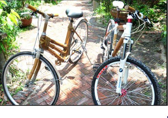Hướng dẫn cách làm xe đạp bằng tăm tre để có những món quà xinh xắn 10