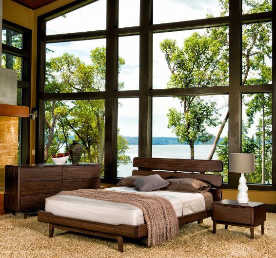 Nhìn lướt qua không ai nhận ra đây là chiếc giường được làm từ tre