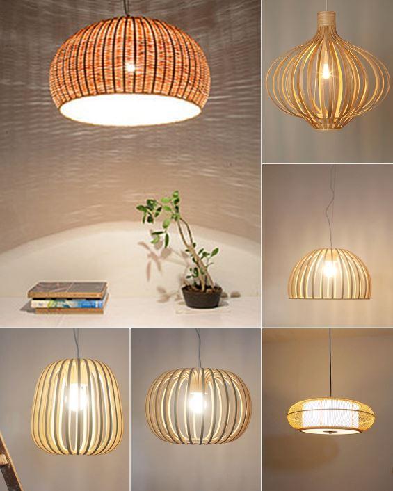 Những chiếc lồng đèn được thực hiện từ tre trúc một cách tỉ mỉ, tinh tế mà ngày nay chúng ta thường thấy trong các quán cà phê