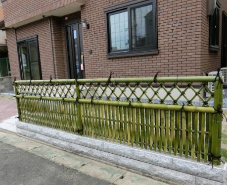 Hàng rào tre trúc để trang trí