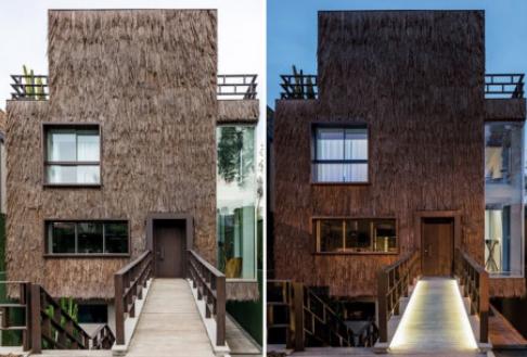 Thiết kế resort kết hợp mái lá