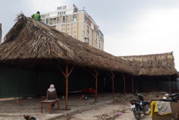 Mẫu thiết kế nhà lá dài, khung gỗ