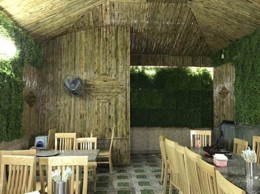 Ốp trần, vách nhà bằng tre trúc tạo nên điểm nhấn độc đáo và thú vị