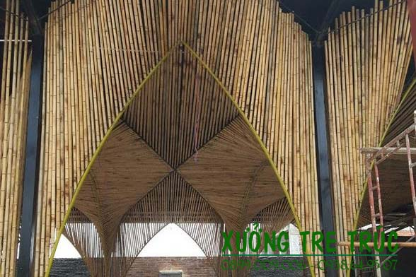 Thiết kế thi công trang trí nhà bằng tre trúc