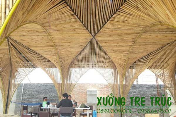 Công trình thi công trang trí quán cà phê bằng tre trúc