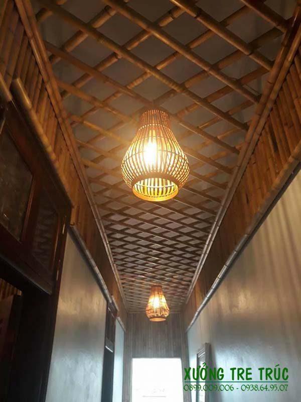 Trang trí trần nhà bằng tre trúc độc đáo nghệ thuật
