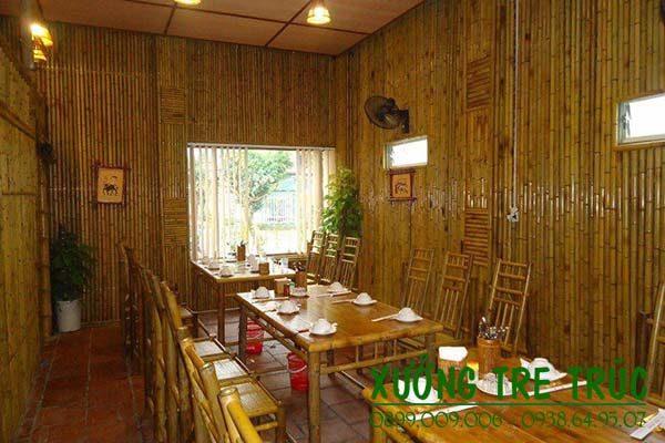 Thi công ốp trần tre trúc quán ăn, nhà hàng độc đáo
