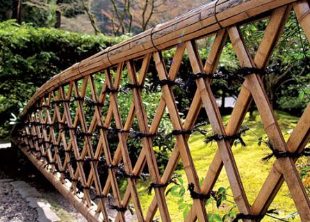 Mẫu hàng rào cổ điển với các ô hình thôi