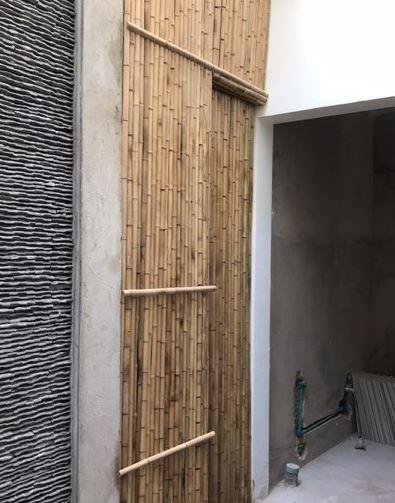 Ốp vách tre giúp cho ngôi nhà mang nét cổ điển hơn