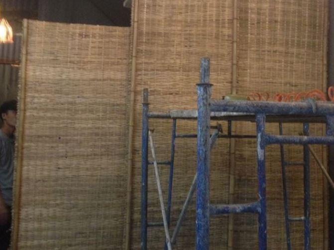 Hình ảnh tấm phên tre ruột - Xưởng tre trúc